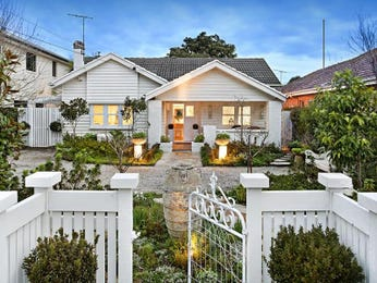 Weatherboard californian bungalow house exterior with porch