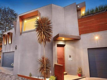 Facade Ideas With Concrete And Window Awnings