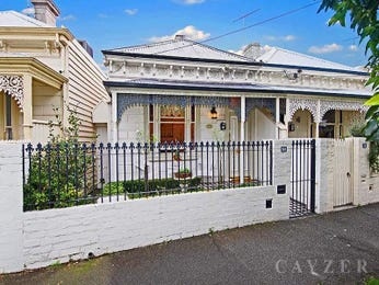 Brick victorian house exterior with brick fence & landscaped garden - House Facade photo 525261