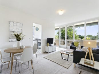 Dining-living living room using white colours with carpet & floor-to-ceiling windows - Living Area photo 8997833