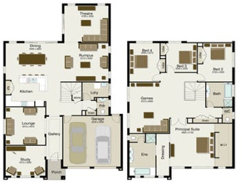 The Regent 395 - floorplan