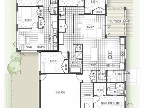 Robinia Dual Living 1830 N01 - floorplan
