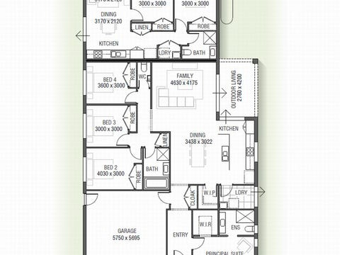 Robinia Dual Living 1530 N01 - floorplan