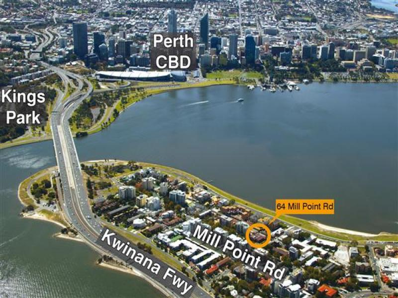 64 mill point road south perth wa 6151 sold land for 100 st georges terrace perth wa 6000