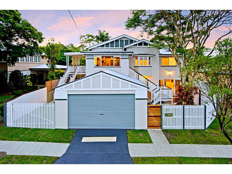 Photo of a concrete house exterior from real australian for Carport fence ideas