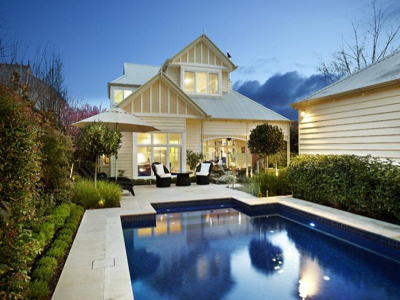 Weatherboard Edwardian House Exterior With Floor To
