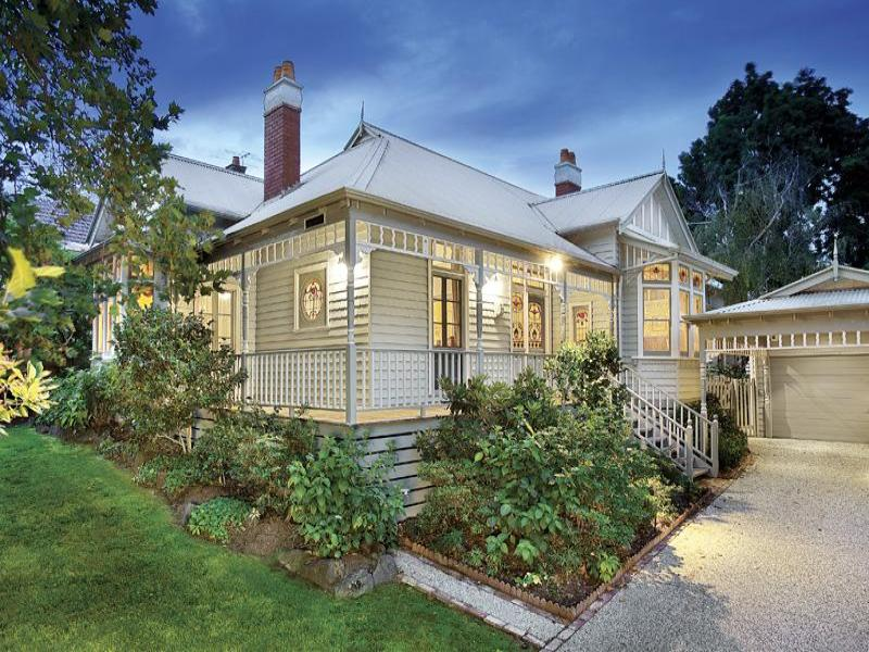 corrugated iron edwardian house exterior with balustrades