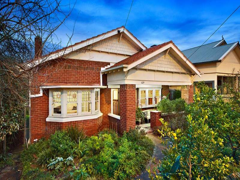 Brick Californian Bungalow House Exterior With Bay Windows