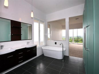 Modern bathroom design with freestanding bath using tiles - Bathroom Photo 469479