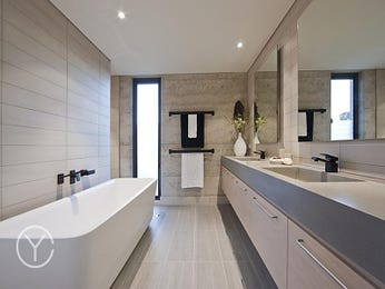 Modern bathroom design with spa bath using ceramic - Bathroom Photo 101084