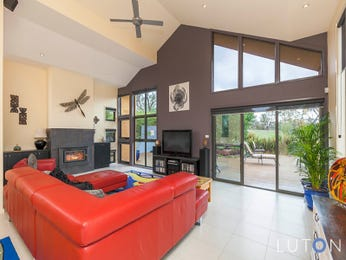 Red living room idea from a real Australian home - Living Area photo 8012829