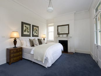 Bedroom ideas with pendant lighting - Blue carpet decorating ideas ...