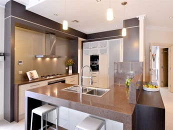Frosted glass in a kitchen design from an Australian home - Kitchen Photo 7766725