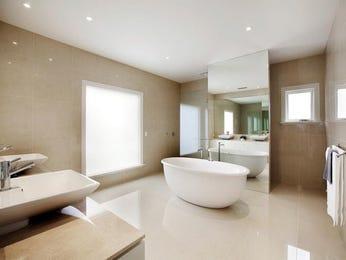 French provincial bathroom design with twin basins using ceramic