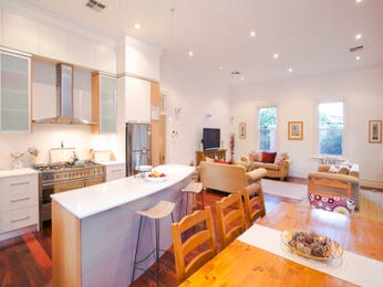 Modern kitchen-dining kitchen design using frosted glass - Kitchen Photo 7367905