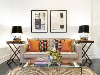 Black living room idea from a real Australian home - Living Area photo 16096393