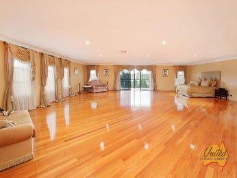 Modern bedroom design idea with floorboards & floor-to-ceiling windows using brown colours - Bedroom photo 161683