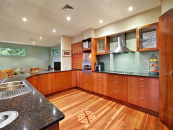 Art deco kitchen-living kitchen design using hardwood - Kitchen Photo 163555