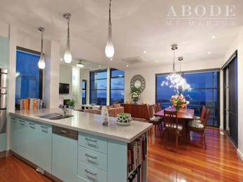 Modern kitchen-dining kitchen design using floorboards - Kitchen Photo 6852197