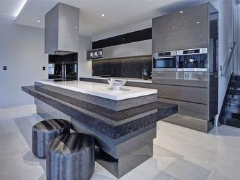 Modern open plan kitchen design using tiles - Kitchen Photo 8838333