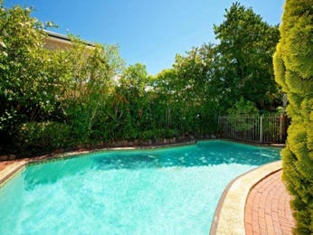 Modern pool design using brick with pool fence & rockery - Pool photo 224059