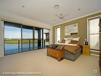 Classic bedroom design idea with frosted glass & bi-fold doors using brown colours - Bedroom photo 392944