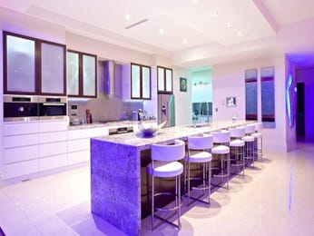 Modern open plan kitchen design using frosted glass - Kitchen Photo 8211877