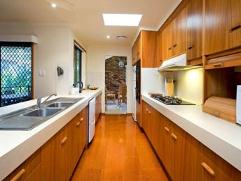 Classic galley kitchen design using granite - Kitchen Photo 891394