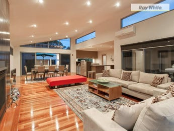 Dining-living living room using grey colours with floorboards & floor-to-ceiling windows - Living Area photo 8341561