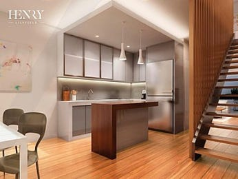 Modern open plan kitchen design using floorboards - Kitchen Photo 8967245