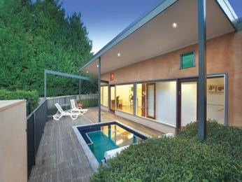 Indoor-outdoor outdoor living design with pool & decorative lighting using glass - Outdoor Living Photo 1580280