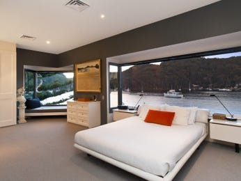 Modern bedroom design idea with carpet & window seat using grey colours - Bedroom photo 283570