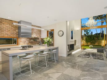 Exposed brick in a kitchen design from an Australian home - Kitchen Photo 16793129