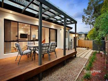 Indoor-outdoor outdoor living design with deck & decorative lighting using pebbles - Outdoor Living Photo 1223671