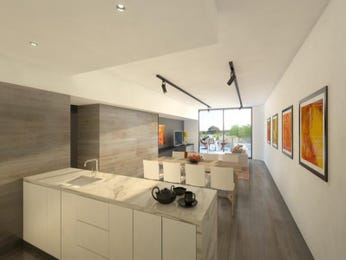Modern kitchen-dining kitchen design using floorboards - Kitchen Photo 824756