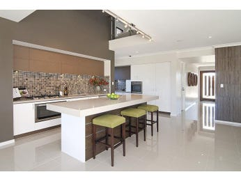 Modern island kitchen design using tiles - Kitchen Photo 714766