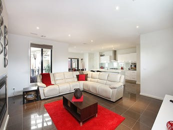 Open plan living room using white colours with tiles & mantelpiece - Living Area photo 590191