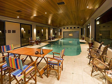 7.Indoor pool timber lined ceiling