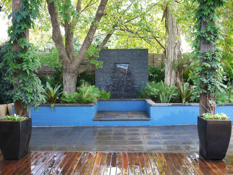 of a tropical garden design from a real Australian home Gardens