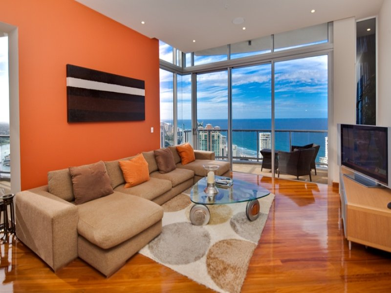 Orange living room idea from a real australian home for Living area ideas