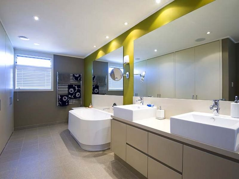 Modern bathroom design with freestanding bath using ceramic bathroom photo 459278 Modern australian bathroom design