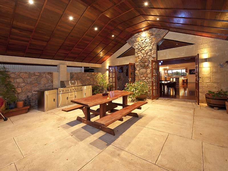 Outdoor living design with bbq area from a real australian for Outside barbecue area design