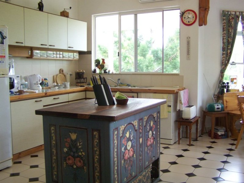 Art Deco Kitchen Living Kitchen Design Using Tiles Kitchen Photo
