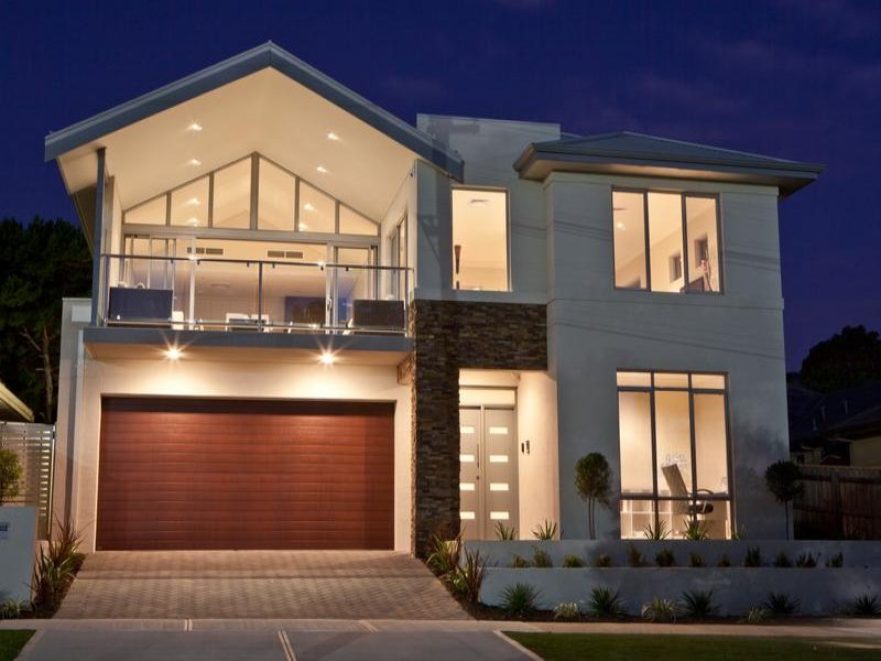 Magnificent Modern House Exterior With Balcony Decorative Lighting House Largest Home Design Picture Inspirations Pitcheantrous