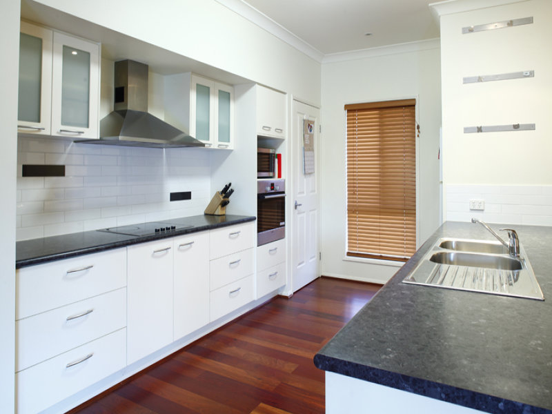 Modern galley kitchen design using floorboards kitchen for Galley kitchen designs