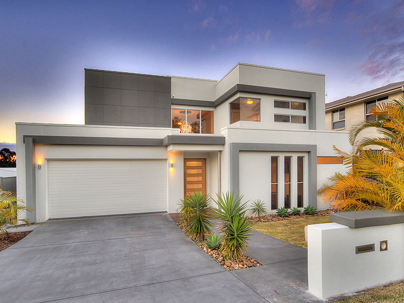 Photo of a concrete house exterior from real australian for Best house designs australia 2015