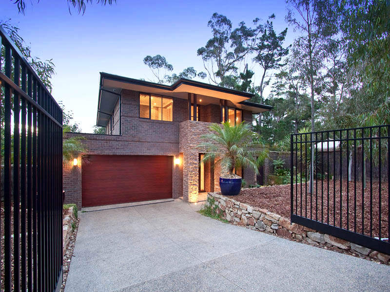 Brick Modern House Exterior With Security Gate Amp Feature