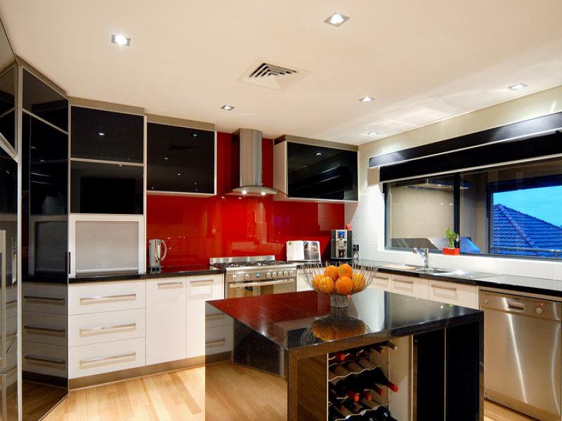 Modern Island Kitchen Design Using Granite Kitchen Photo 157033