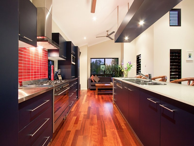 Modern galley kitchen design using hardwood kitchen photo 158504