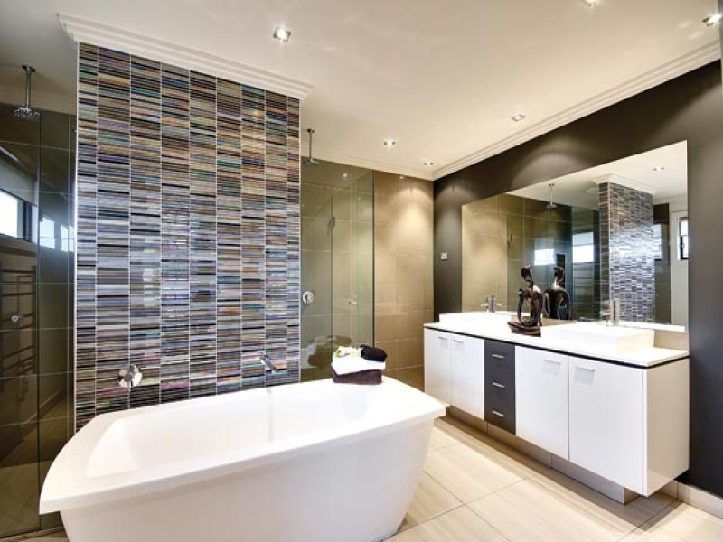 Modern Bathroom Design With Built In Shelving Using Part 82